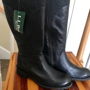Deerfield Zipper Riding Boots L.L. Bean NWT SZ 8
